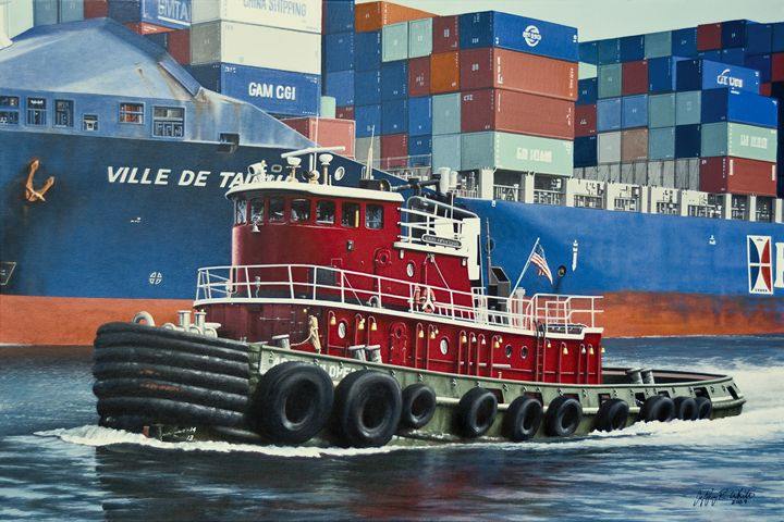 Cape Henlopen Tug - Jeffrey R. White Fine Art