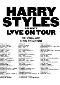 HARRY STYLES LOVE ON EUROPE DATES