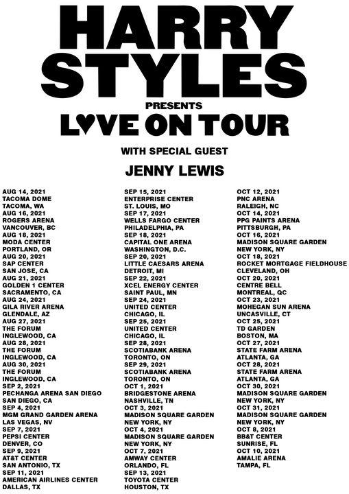 HARRY STYLES LOVE ON USA DATES 2021 - lestaribataritedjo
