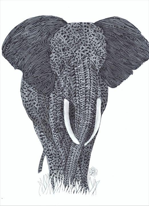 African Elephant - Ben Roback's Art