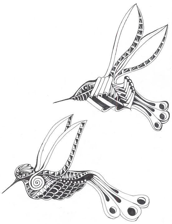 humming birds - Ben Roback's Art