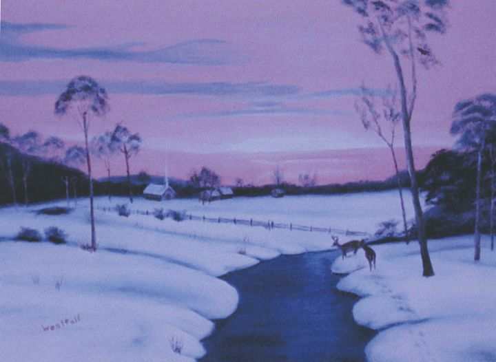 A Winter's Sunset - Ernie Westfall