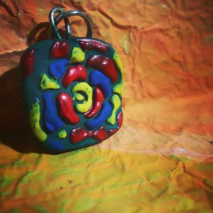 stained glass rose - ClayParade