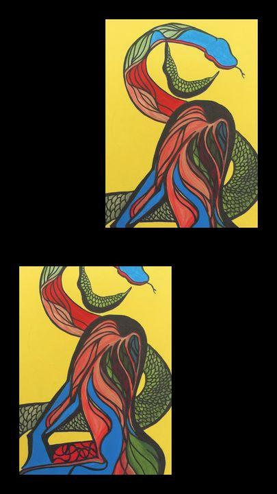 When lust turns into snake - Svrvhabd Prints