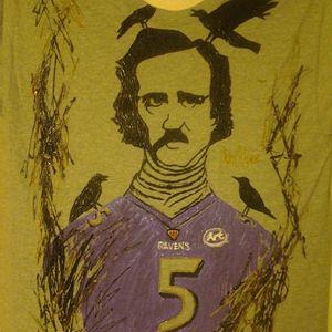 Edgar Allen Poe Hand painted shirt