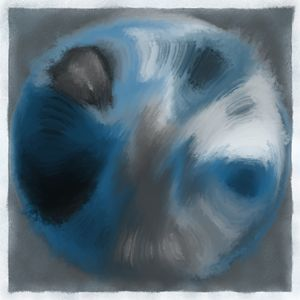 Abstract Digital oil painted Globe