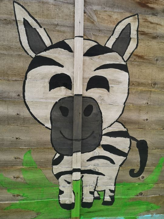 Baby zebra painting - GSart
