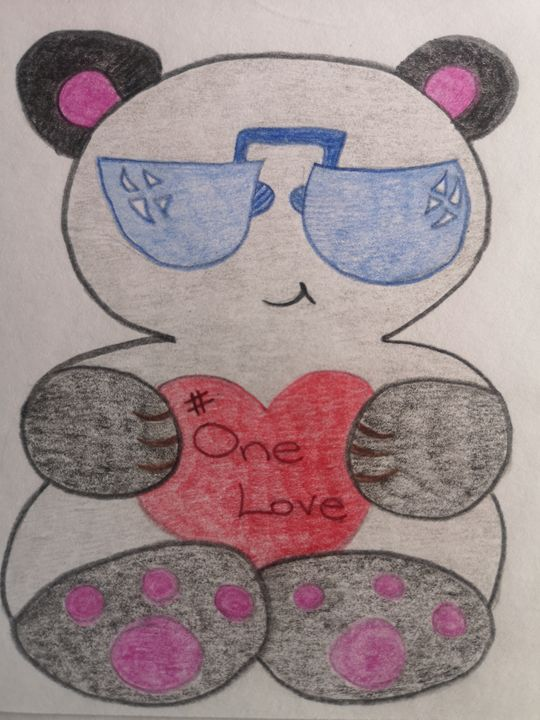 Panda #one love - GSart