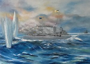 HMS Achilles Battle at River Plate