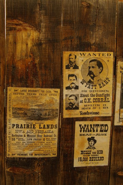 Wanted Poster - Wyatt Earp - Photography by Rob