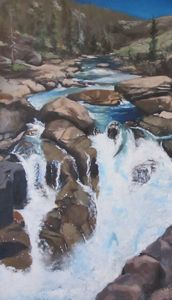 falls along the Yuba River