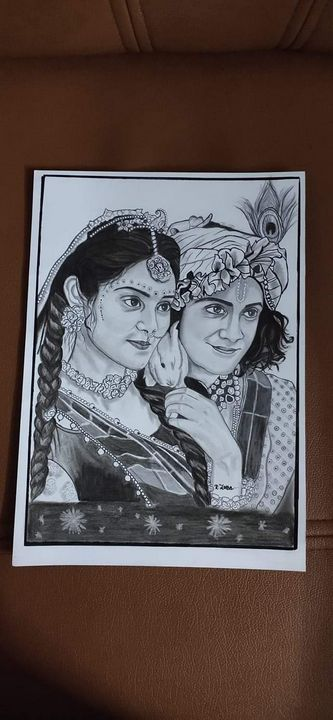 Radha Krishna - Pencil soul arts