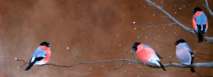 Goldfinches - Anne van den Broek Art and Illustrations