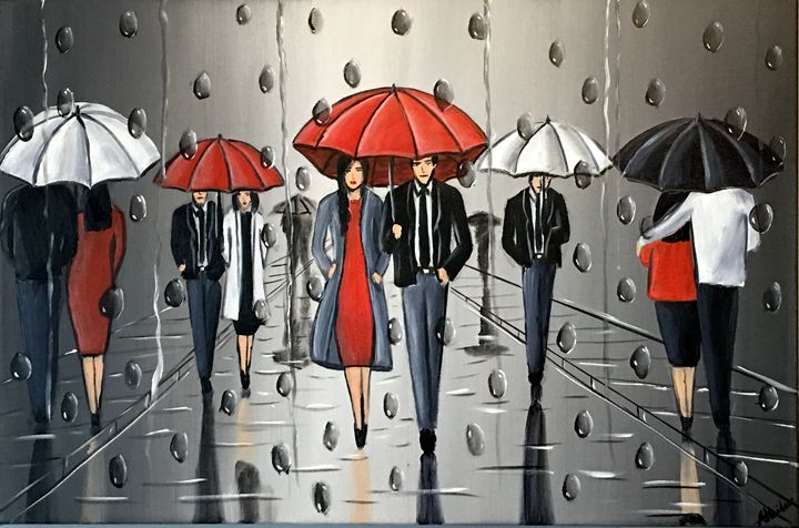 Umbrellas And The Rain 2 - Aisha Haider