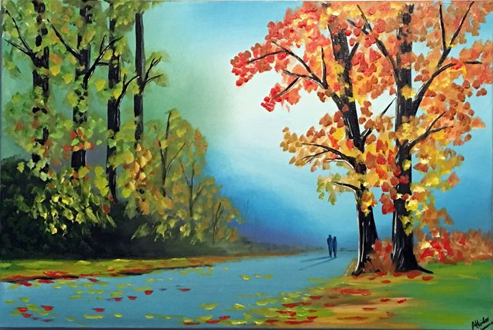 Vibrant Autumn Leaves - Aisha Haider