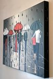 Original Painting of umbrellas