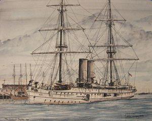The Gun Boat Topeka, 1900