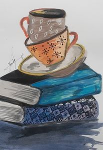 Book with tea