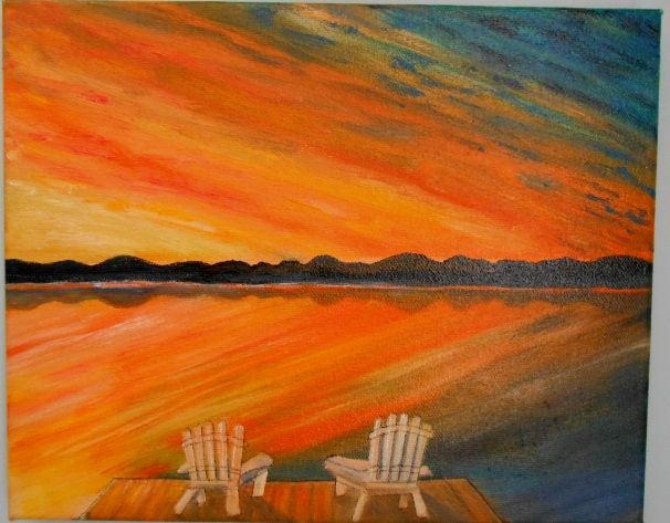 Adirondack Sunset - Sold - IGOT2BME