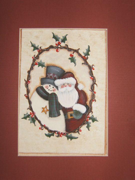Santa & Snowman- Sold - IGOT2BME