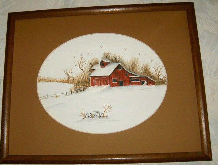 Barn in snow- Sold - IGOT2BME