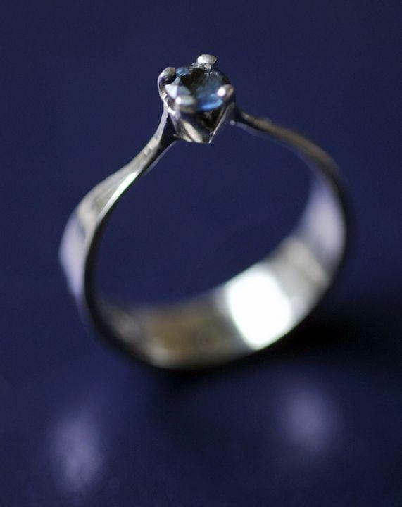 14K white gold ring - JBiro