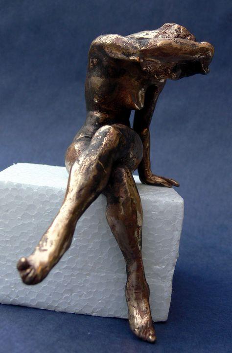 sleepless.. bronze figurine - JBiro