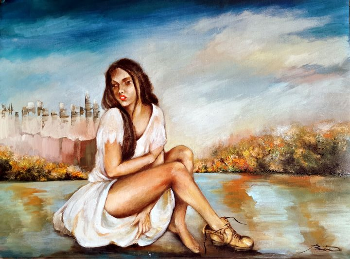 lonely in the city...oil painting - JBiro