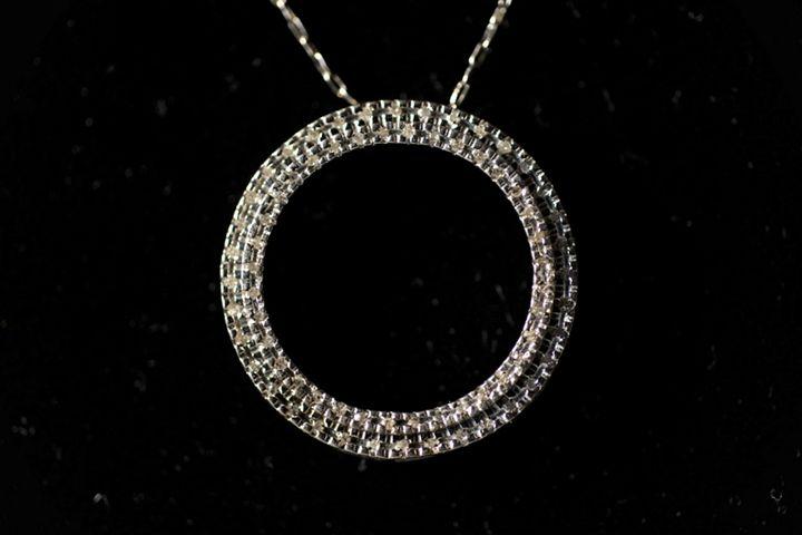 Diamonds  in silver pendant - JBiro