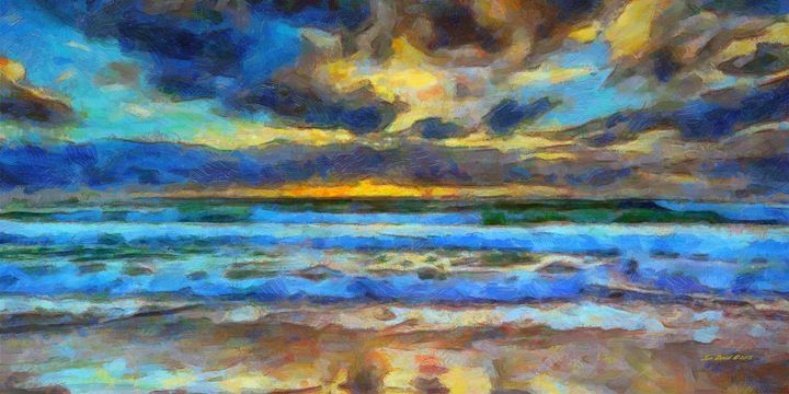 Sunset at the Beach - Artistic Visions