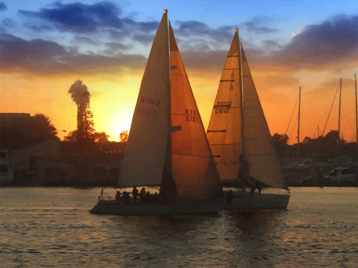 Red Sails in the Sunset - Artistic Visions