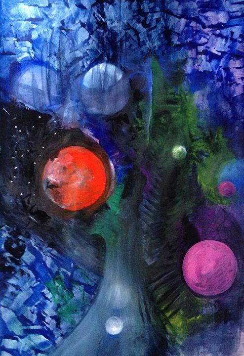 Tree of Planets - Eliane Piccardi Art