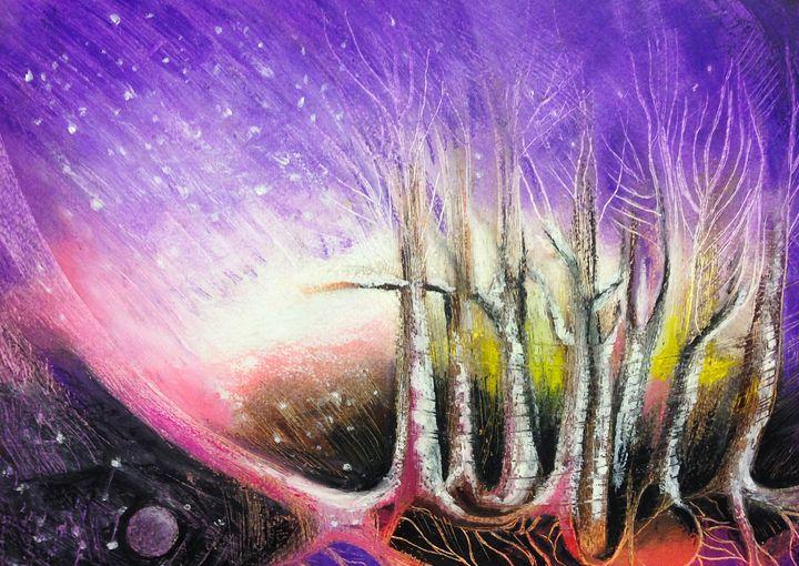 Starry Winter - Eliane Piccardi Art
