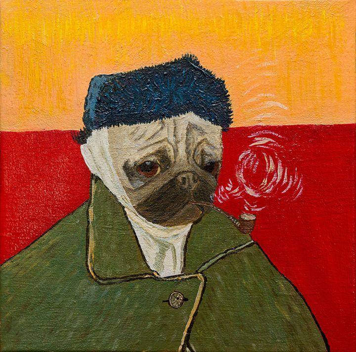 Van Pug – Self-Portrait with Bandag - WombArt