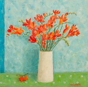 Freesias bouquet. Spring flowers - WombArt