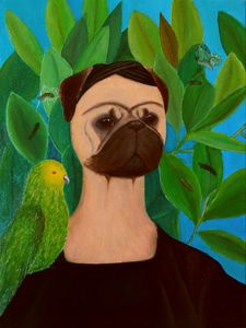 Portrait with Parrot & Butterfly