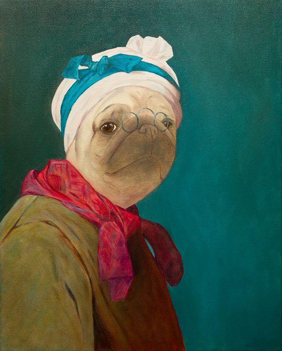 """Pugdin – Self-portrait"" - WombArt"