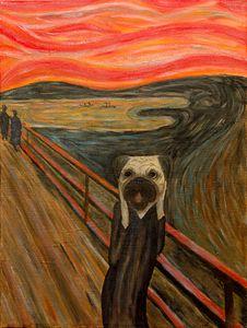Edvard Pugch – The Scream. Pug. Dog - WombArt