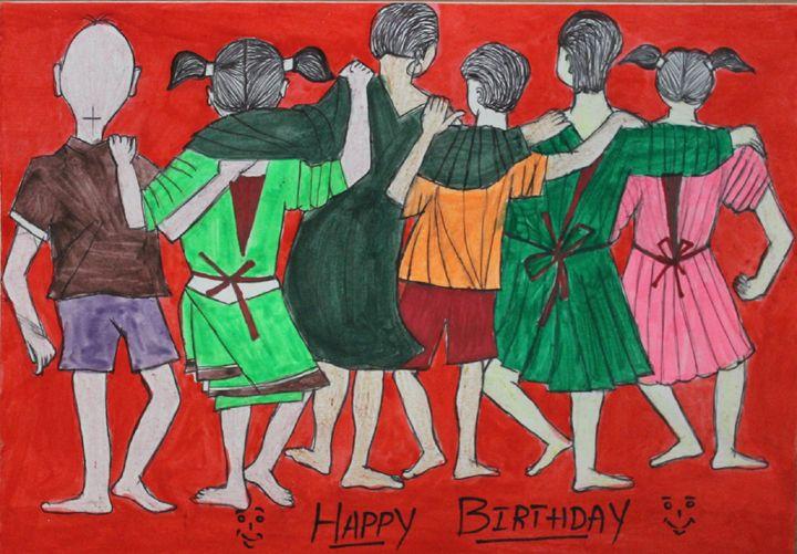 happy birthday with friends - hanuman gallery