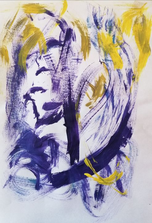 Purple Abstraction no 1 - YagmurTuran