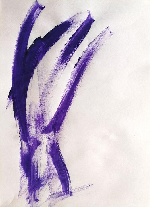 Purple Abstraction no 4 - YagmurTuran