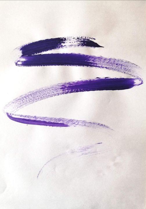 Purple Abstraction no 5 - YagmurTuran