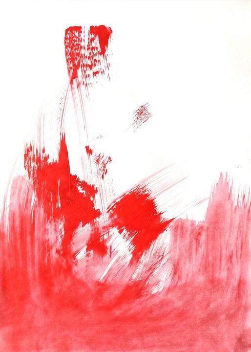 Red Abstraction no 3 - YagmurTuran