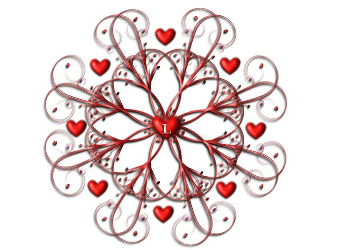 Flourish with Hearts 4 - Rogers Art Shop
