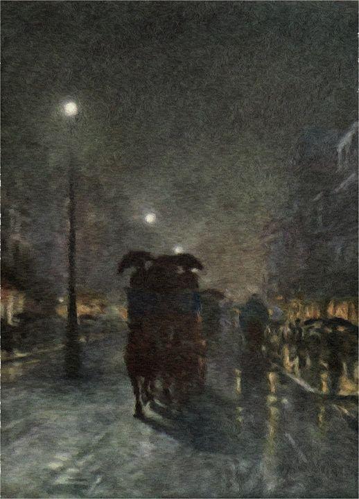 Foggy Night in London - Rogers Art Shop