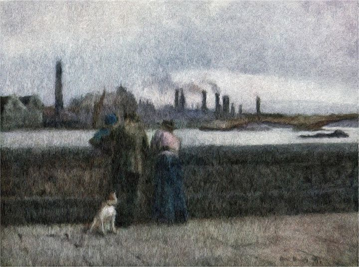 Looking Over the Thames - Rogers Art Shop