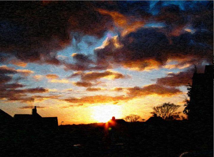 Sunset Over Kent - Rogers Art Shop