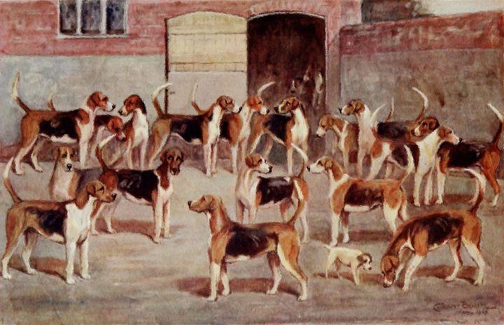 Ledbury Foxhounds (1914) - Rogers Art Shop