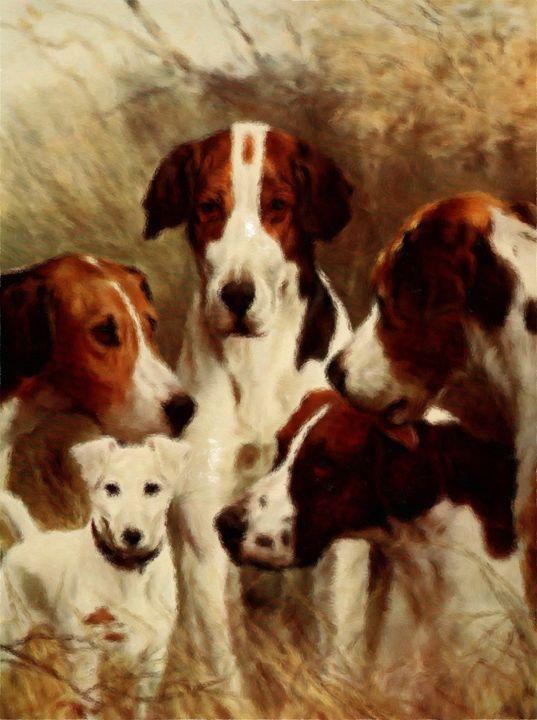 Foxhounds (1903) - Rogers Art Shop