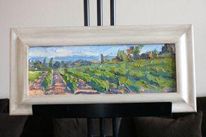 "Tin Odescalchi 'Vines' Oil 6.5"" x 19"